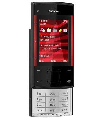 Nokia X3 Quadband GSM Phone (Unlocked) Black/Red