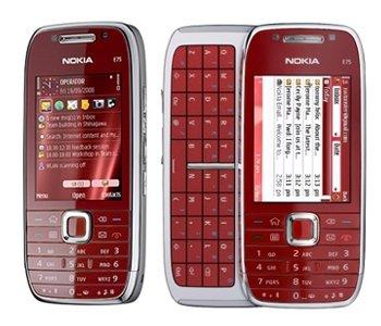 Nokia E75 GSM Quadband Phone (Unlocked) Red