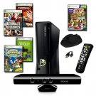 XBOX 360 Slim 4GB 5 Game Kinect Bundle with Accessories