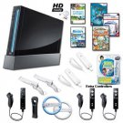 Nintendo Wii Black Holiday Family Bundle.