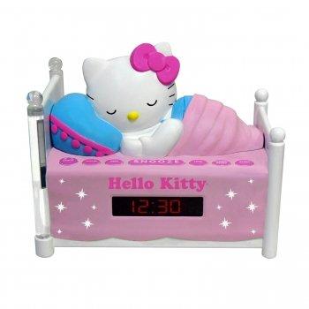 Hello Kitty KT2052 Sleeping AM/FM Clock Radio with Night-Light.
