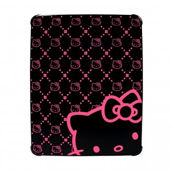 Hello Kitty KT4345BK Polycarbonate Case for iPad- Black & Pink.