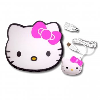Hello Kitty KT4098 Hello Kitty Optical Mouse with Mouse Pad.