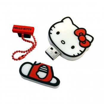 Hello Kitty KT4031 2GB USB Flash Memory Drive.