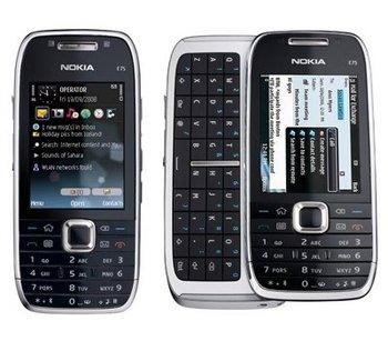 Nokia E75 GSM Quadband Phone (Unlocked) Black.