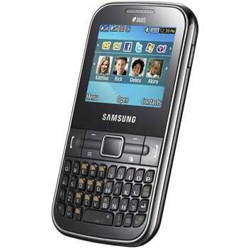Samsung C3222 Chat GSM Quadband Phone (Unlocked) Black.
