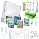 Nintendo Wii White Holiday Fit Mega Bundle with....