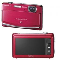 """Fuji-- FinePix Z90--Red--14 MegaPixel, 5.0x Wide Angle Zoom/3.0"""" Wide Touch LCD."""