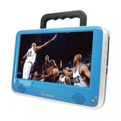 iView 7 Inch 700PTVBLU 12 Volt AC/DC Portable ATSC Digital LCD TV with AV in/out & FM Function Blue