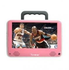 iView 7 Inch 700PTVPNK 12 Volt AC/DC Portable ATSC Digital LCD TV with AV in/out & FM Function Pink