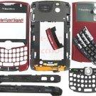 Sprint OEM BlackBerry 8330 Curve Complete Housing Case Burgundy Red