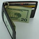 Man's Men Fine Leather Wallet Card ID Holder Money Clip