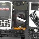 White RIM BlackBerry 8330 Curve Full Housing Case