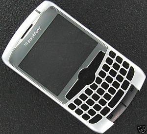 Silver OEM RIM Blackberry Curve 8310 8300 8320 Faceplate+Lens
