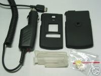 SAMSUNG SCH-U740 SNAP-ON SHELL COVER CASE+Auto Charger