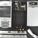 Silver Verizon OEM Rim BlackBerry 8130 Pearl Full Housing Case