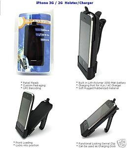 HOLSTER+BATTERY+CHARGING DOCK DESKTOP CRADLE FOR IPHONE