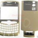 Verizon Gold RIM Blackberry Curve 8330 Full Housing Case