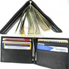 Thin Leather Man's Mens Wallet Card Holder With Money Clip