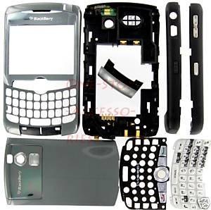 T-Mobile OEM BlackBerry Curve 8320 8300 Full Housing Titanium US
