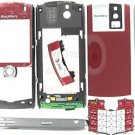 AT&T OEM RIM BlackBerry 8100 Pearl Full Housing+Lens Red