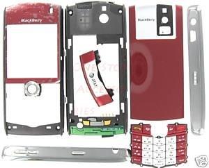 AT&T OEM RIM BlackBerry 8100 Pearl Full Housing+Lens Red