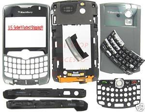 Un-Branded Titanium BlackBerry 8330 Curve Full Housing Case