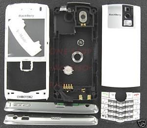 White OEM T-Mobile BlackBerry 8100 Pearl Full Housing Case