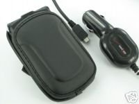 Verizon OEM Car Charger+Pouch Motorola Razr2 V8 V9 V9m