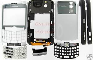 OEM AT&T ATT RIM BlackBerry 8300 8310 Curve Full Housing USA Silver