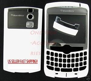 Blackberry Curve 8300 8310 8320 Full Housing Case White