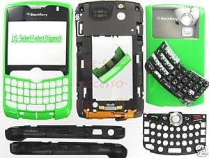 Green RIM BlackBerry OEM 8330 Curve Full Housing Cover