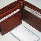 Hand Crafted Fine Leather Man's Bifold Brown Wallet