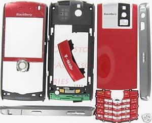 Sunset Red OEM T-Mobile BlackBerry 8100 Pearl Full Housing Case