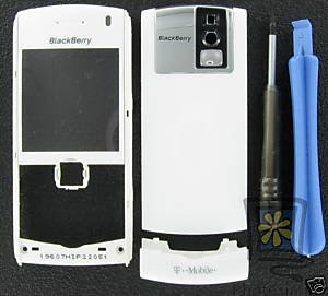 White OEM T-Mobile BlackBerry 8100 Pearl Housing+Tools