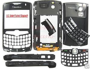 Original BlackBerry 8330 Curve Full Housing Case Black