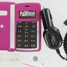 Verizon OEM Car DC Charger+Pink Snap-On Case LG enV2 VX9100