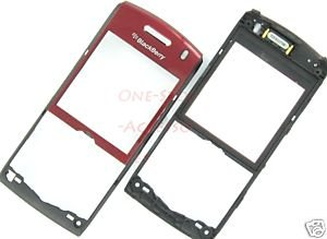 AT&T RIM Blackberry Pearl 8110 8120 OEM Faceplate +Lens Red