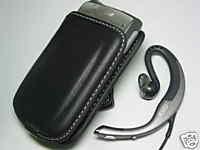 Leather Pouch+Jabra Headset Palm Treo 650 685 690 700 700p 700w 700wx 680 750 750p 755 755p Centro