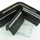 Bi-fold Cow Hide Fine Genuine Leather Men's Wallet Black