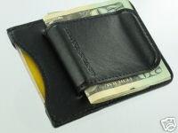 Fine Leather Credit Card ID Cash Holder Belt Money Clip