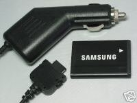 Samsung OEM Battery +Auto Car DC Charger A580 A640 A420 M500 A645 T719 AB553446BA