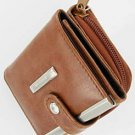 Women's Leather Wallet Purse Credit Card Coin Holder Brown