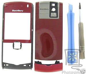 No-Logo UnBrand Original RIM BlackBerry GSM 8100 Pearl Red Housing