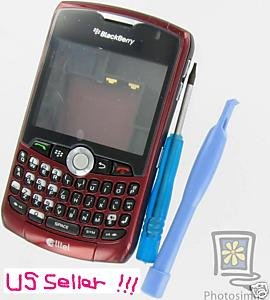 OEM Burgundy Housing Case+Tool Kit Alltel BlackBerry 8330 Curve