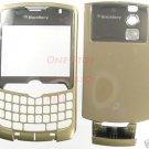 Metro PCS Gold RIM Blackberry Curve 8330 Full Housing Case