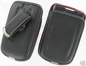 Leather Case Pouch AT&T Blackberry Curve 8300 8310 8320