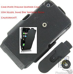 Italian Fine Leather Case Mate For Apple iphone 1st Gen 4gb 8gb