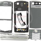 Titanium BlackBerry 8110 8120 Pearl Full Housing Cover