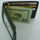 Man Men's Fine Leather Wallet Business Card ID Holder Money Clip